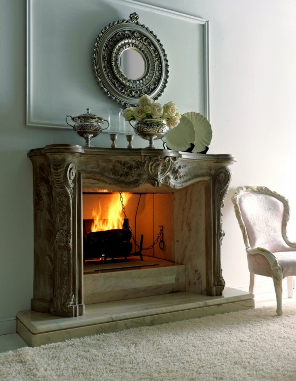 Ultra Modern Luxury Italian Fireplaces Wood Burning Design