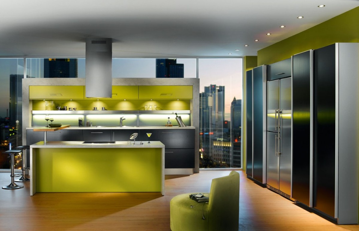 Green Apartment Kitchen