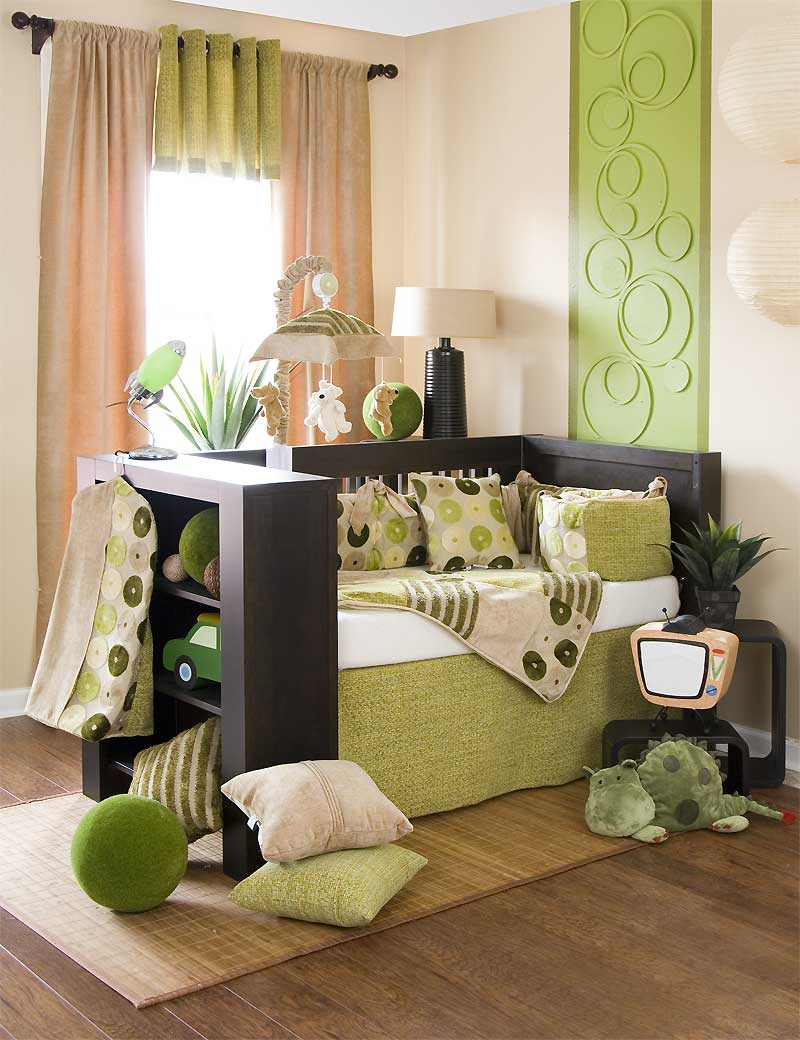 baby bedding sets and ideas green crib