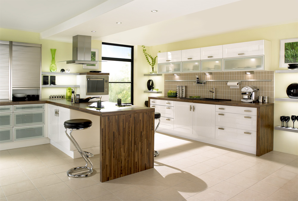 Green kitchens for Modern green kitchen designs