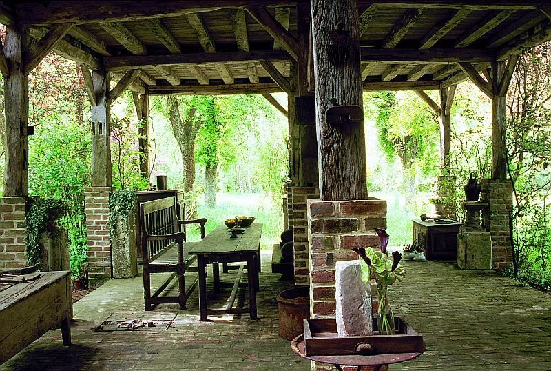 french house interior design. outside French Country House