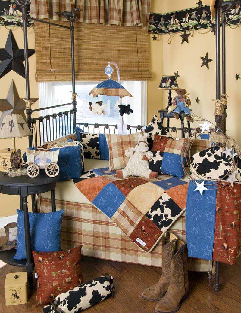 Baby bedding sets and ideas for Cowboy themed bedroom ideas
