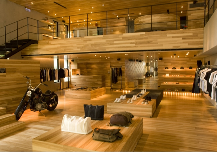 Retail Design Showroom In Wood