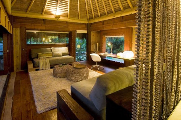 Private Island Seychelles - living room