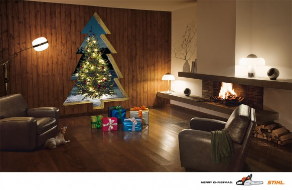 christmas interiors - christmas tree
