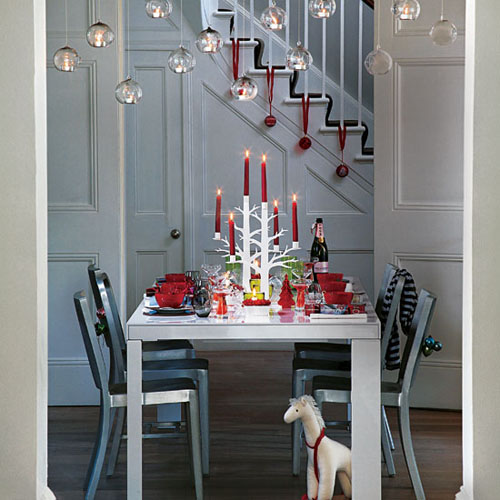 christmas interiors- dining table
