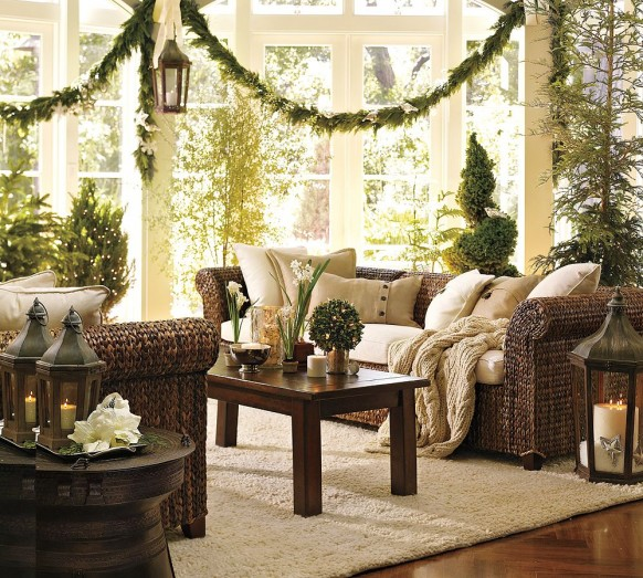 christmas interiors - living room