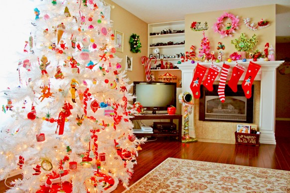 christmas interiors - white tree