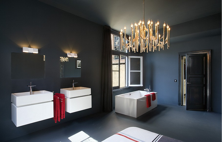 A church remodelled into a residence for Church bathroom designs