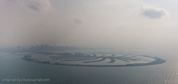 city of dubai - reclaimed land aerial view