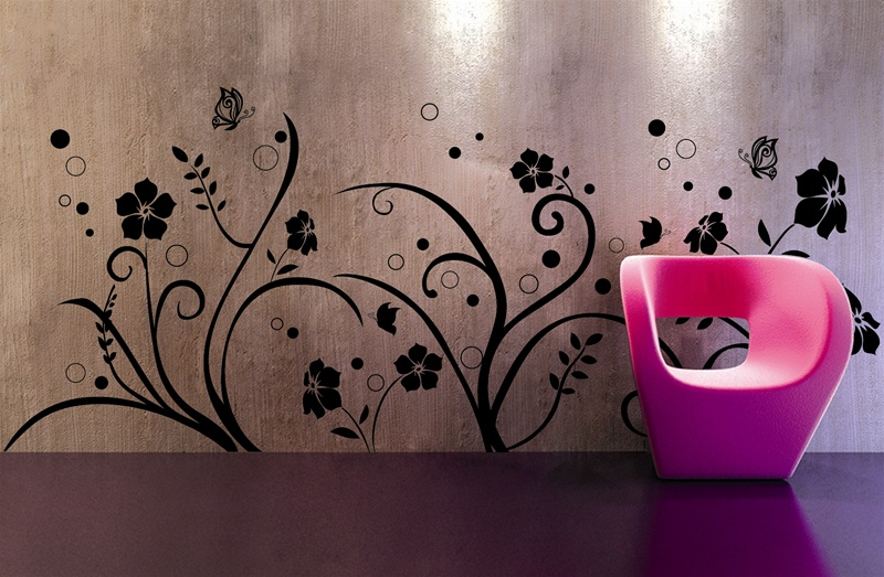 Wall Design Paint Pic : Cool wall decals from tat