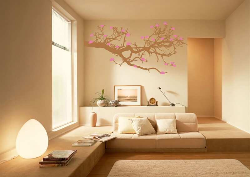 Cool Wall Tat   Pink Tree