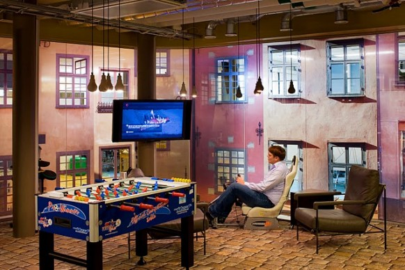 google stockholm office - games room