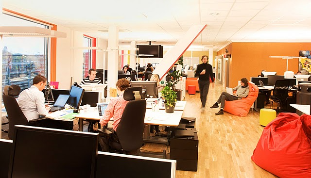 google office space design. google stockholm office workplace space design