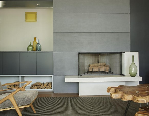 home in new york - fireplace