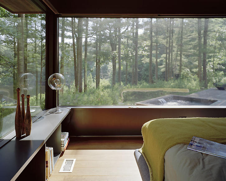 A home blended with nature Nature bedroom