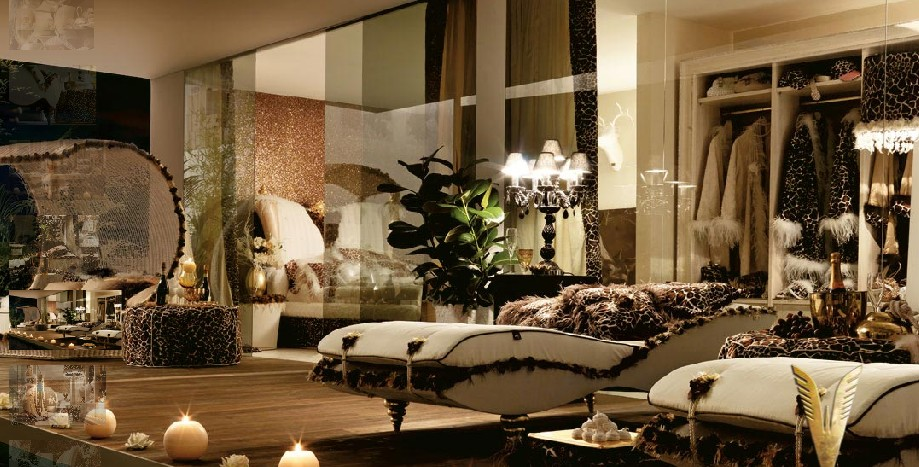 luxurious interiors black room
