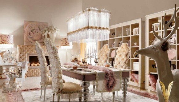 luxurious interiors- dining area