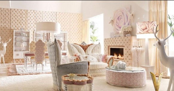 luxurious interiors-white room