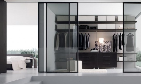 sophisticated walk in wardrobes for women