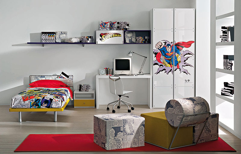Superman and batman come to your kid 39 s rooms - Superman room decorating ideas ...