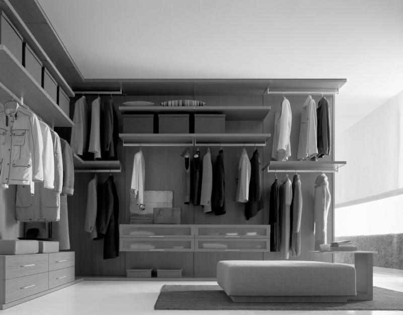 Bedroom closets and wardrobes for Men s walk in wardrobe