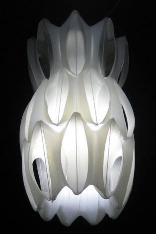 Heath Nash lamp from fabric softner bottles1