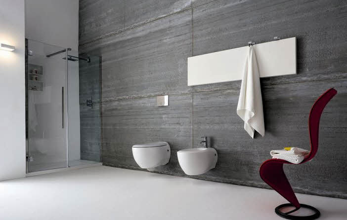 Modern bathroom designs from rexa for Bathroom ideas grey
