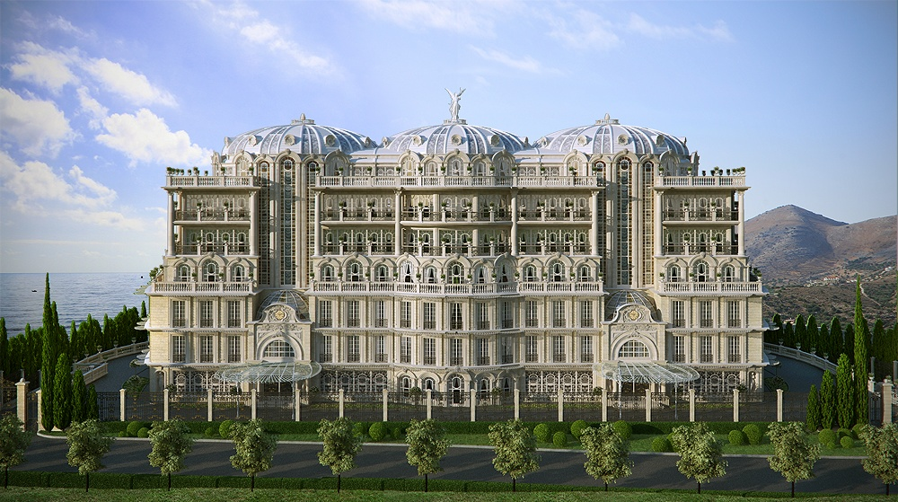 Stunning palace made using cg for Cg home designs