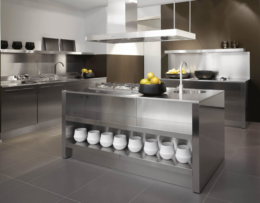 Stainless steel kitchen designs - Kitchen counter decoration ...