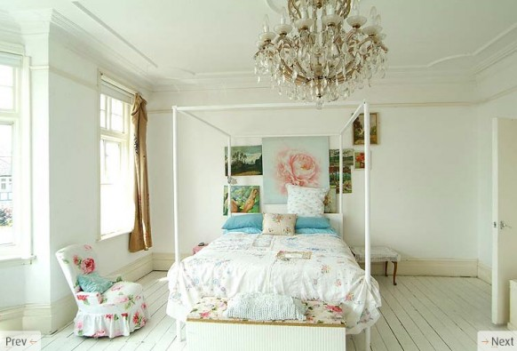master bedroom white interiors