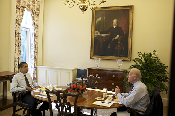 Oval office diningroom interiors