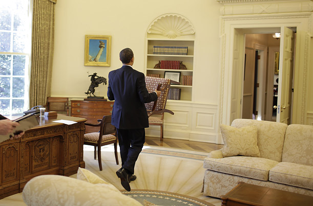 the beige couch oval office