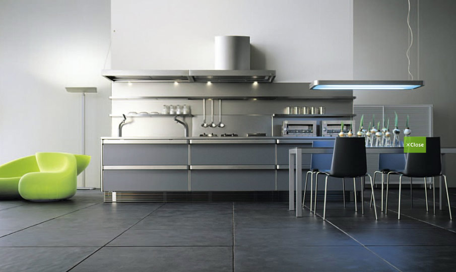 Stainless steel kitchen designs for Japanese kitchen designs