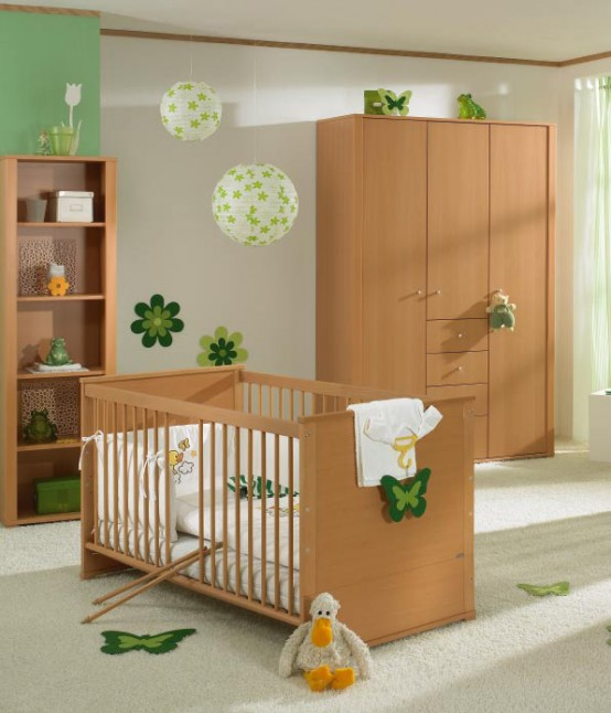 white and wood baby nursery furniture sets by Paidi13