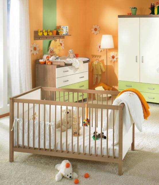 white and wood baby nursery furniture sets by Paidi 26