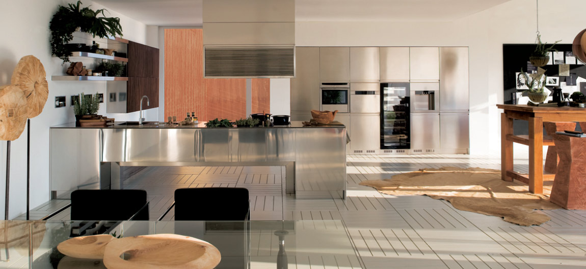 stainless kitchen - Stainless Steel Kitchen Ideas