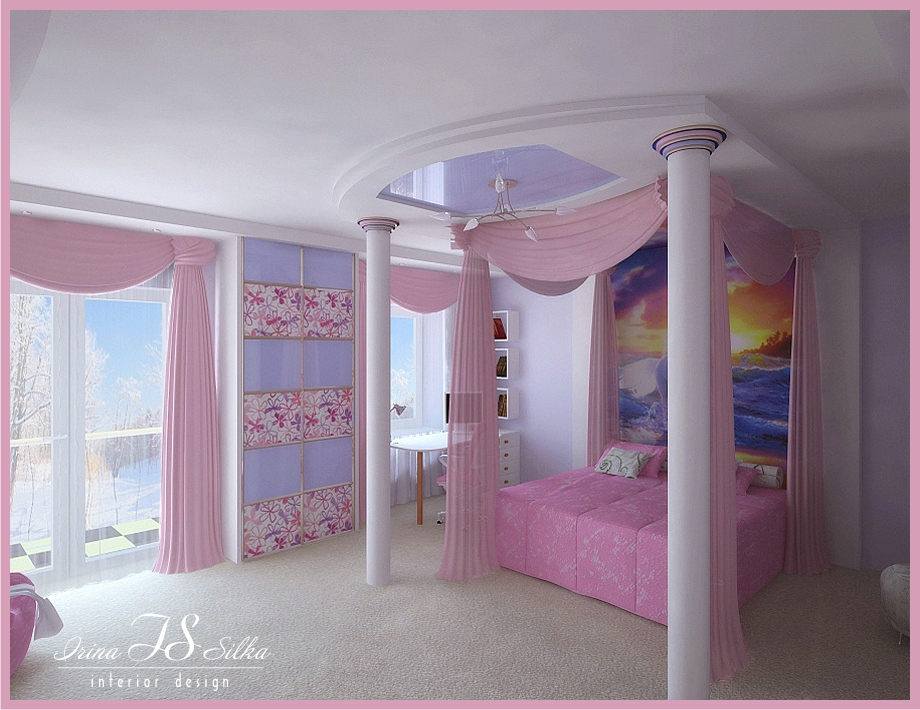 room for girl view 1 by irina silka - Teen Room Designs