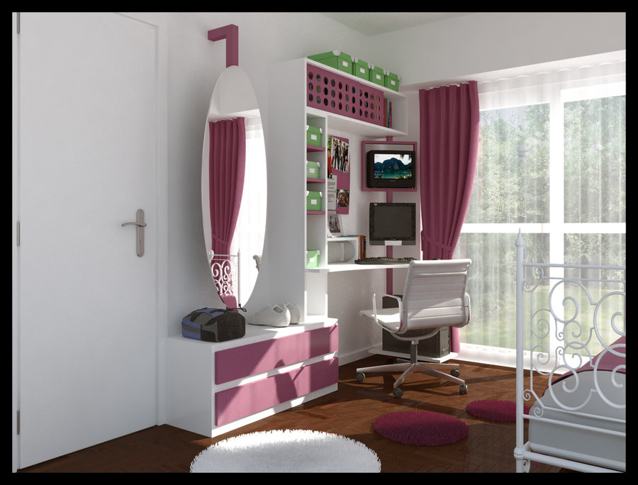 teenage room designs - Interior Teen Bedroom Design