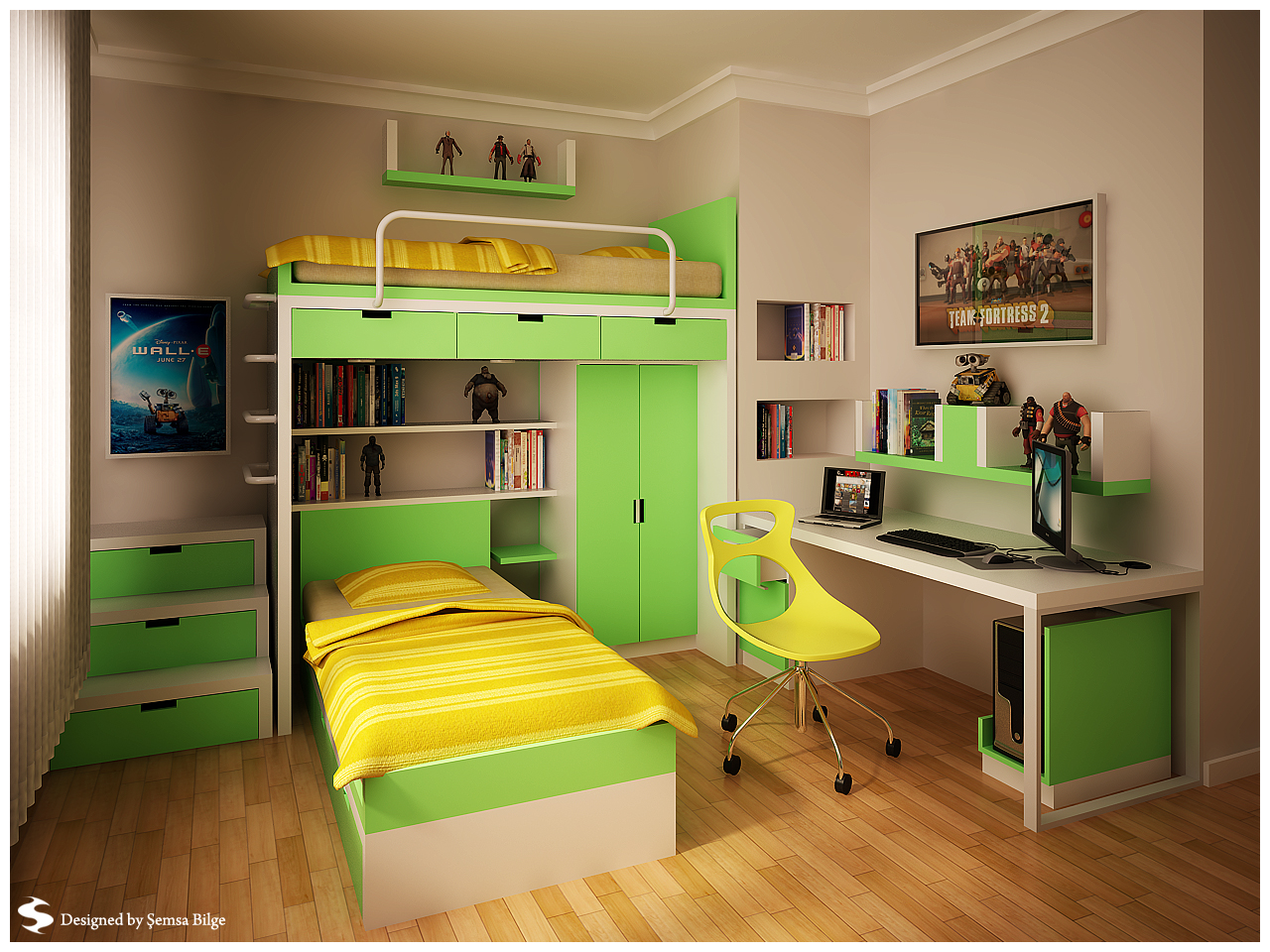Teenage room designs for Room design green