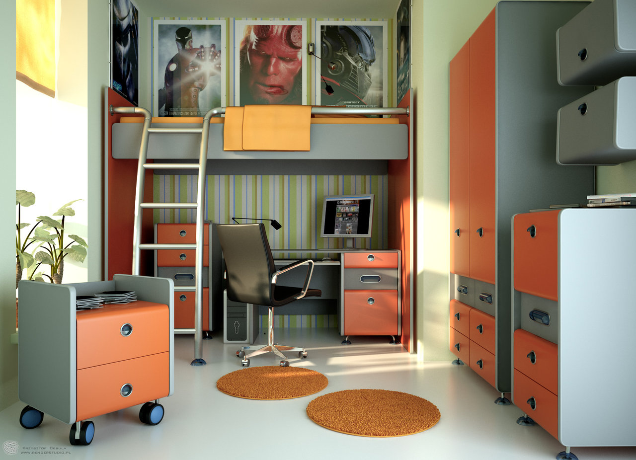 Teen Bedroom Furniture - Teen Room Evermotion By Zipper