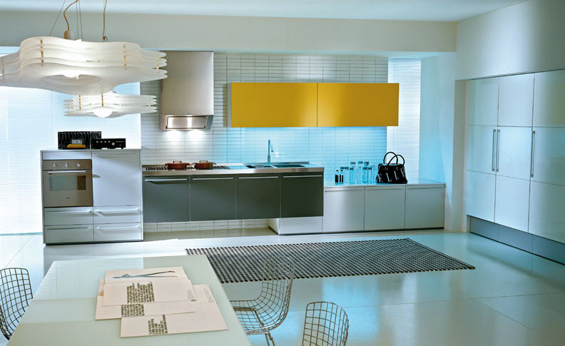 Luxurious italian kitchens from pedini for Awesome warehouse kitchen design