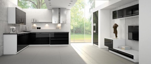 balck and white kitchen designs