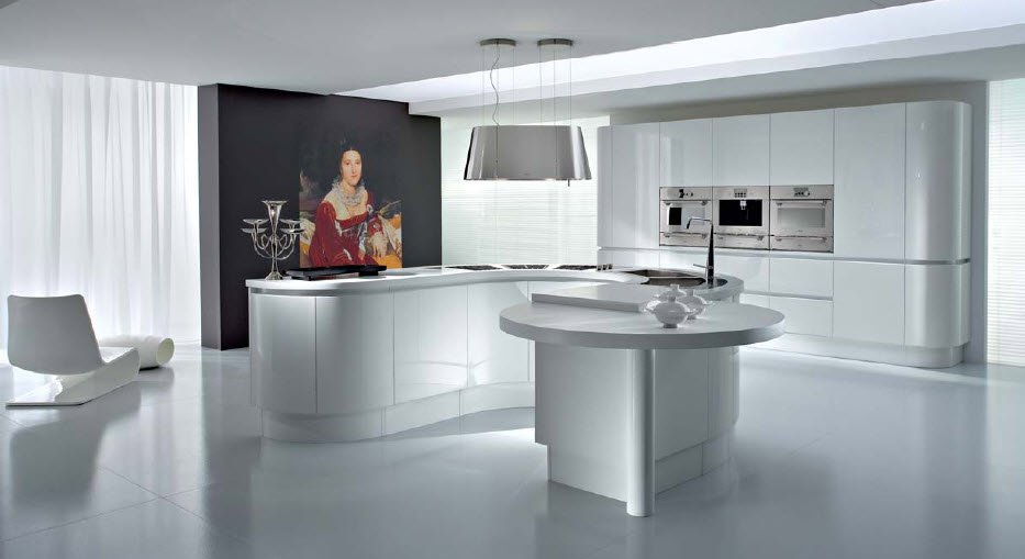 Luxurious italian kitchens from pedini for Beautiful black kitchens