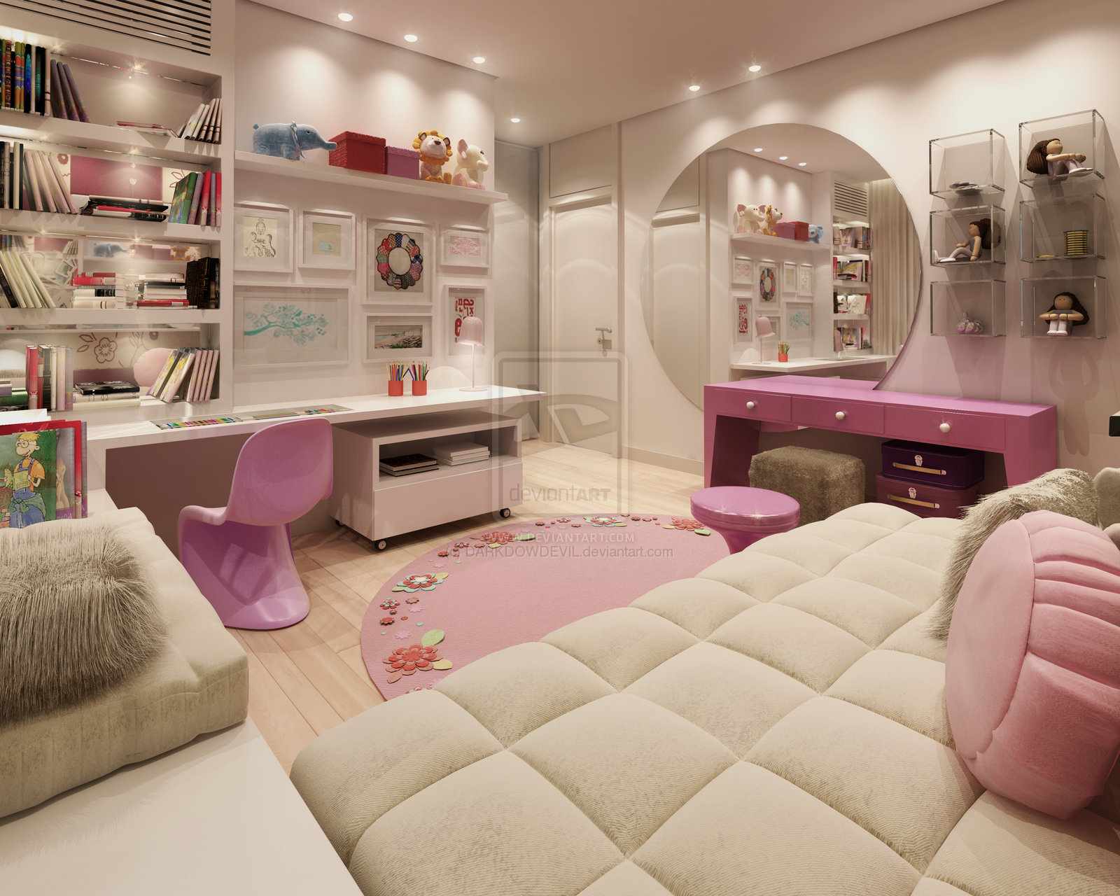 Cool bedroom designs for teenagers - Girl Bedroom2 By Darkdowdevil