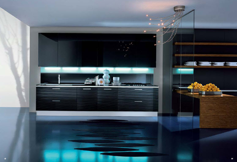 Luxurious italian kitchens from pedini for Modern luxury kitchen designs