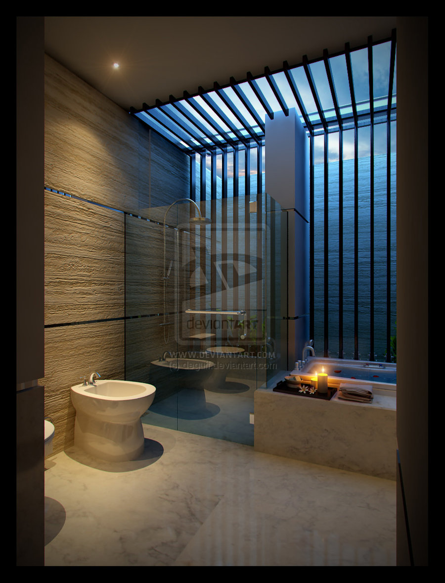 16 designer bathrooms for inspiration for Toilet and bath design