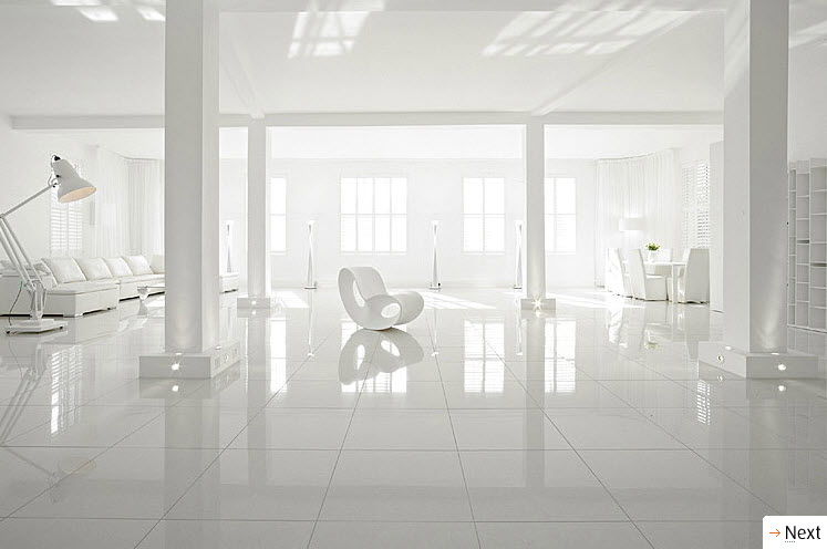 Attractive Baeutiful White Interiors Part 22