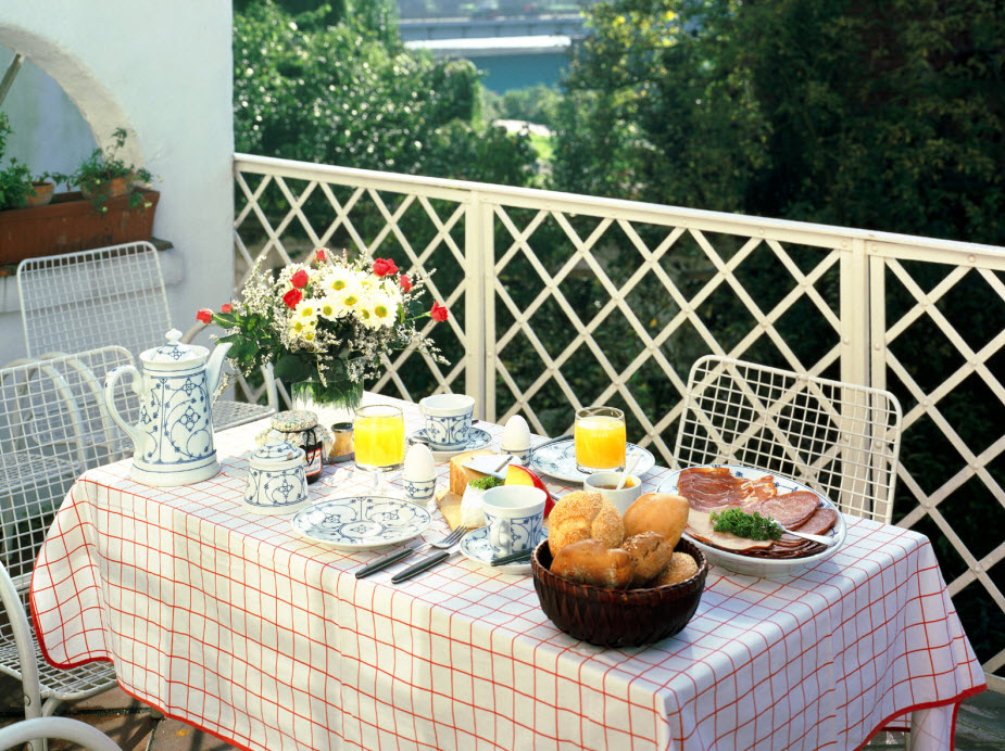 Cute and small dining spaces for Restaurants with balcony