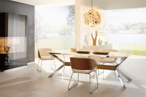 beige white dining room